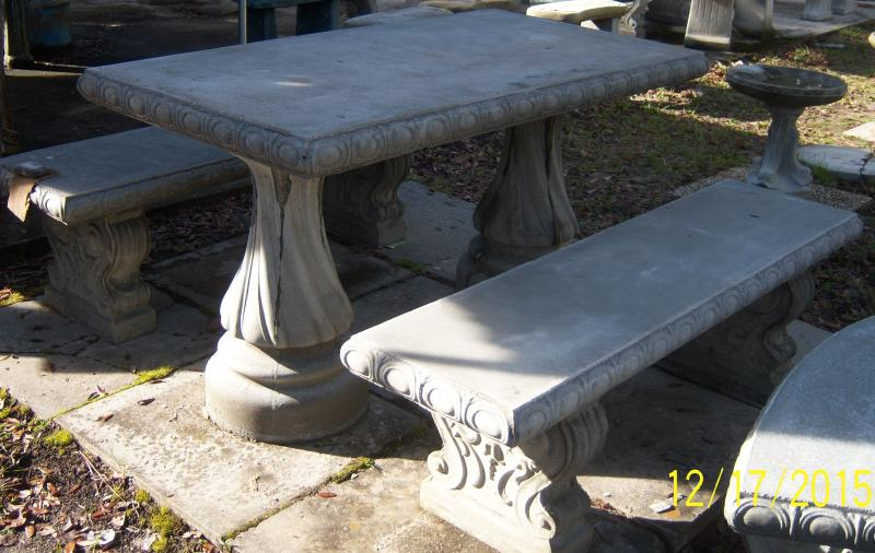 Concrete Picnic Tables And Benches - Stone picnic table set